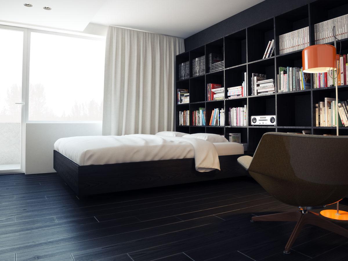 дизайн интерьера Санкт-Петербург, интерьер квартиры в Санкт-Петербурге, черно-белый интерьер квартиры, темный интерьер квартиры, проект интерьера