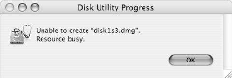 Рис. 1.2. С помощью Disk Utility нельзя создать копию текущего загрузочного диска