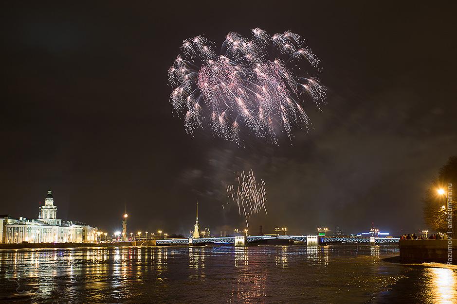 фейерверк в Санкт-Петербурге