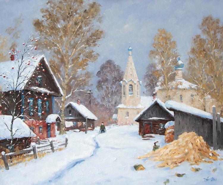 Хорошей недели, русская деревня открытка