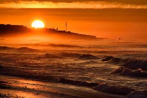 Рассвет на атлантическом побережье