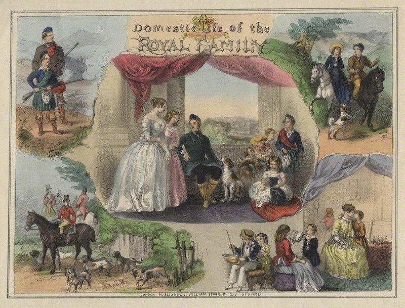 Домашняя жизнь королевской семьи, ок. 1850 г.