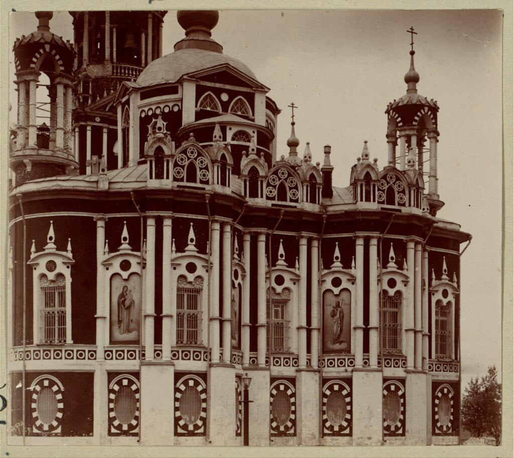 Деталь стены Николаевского собора. Можайск. 1911.