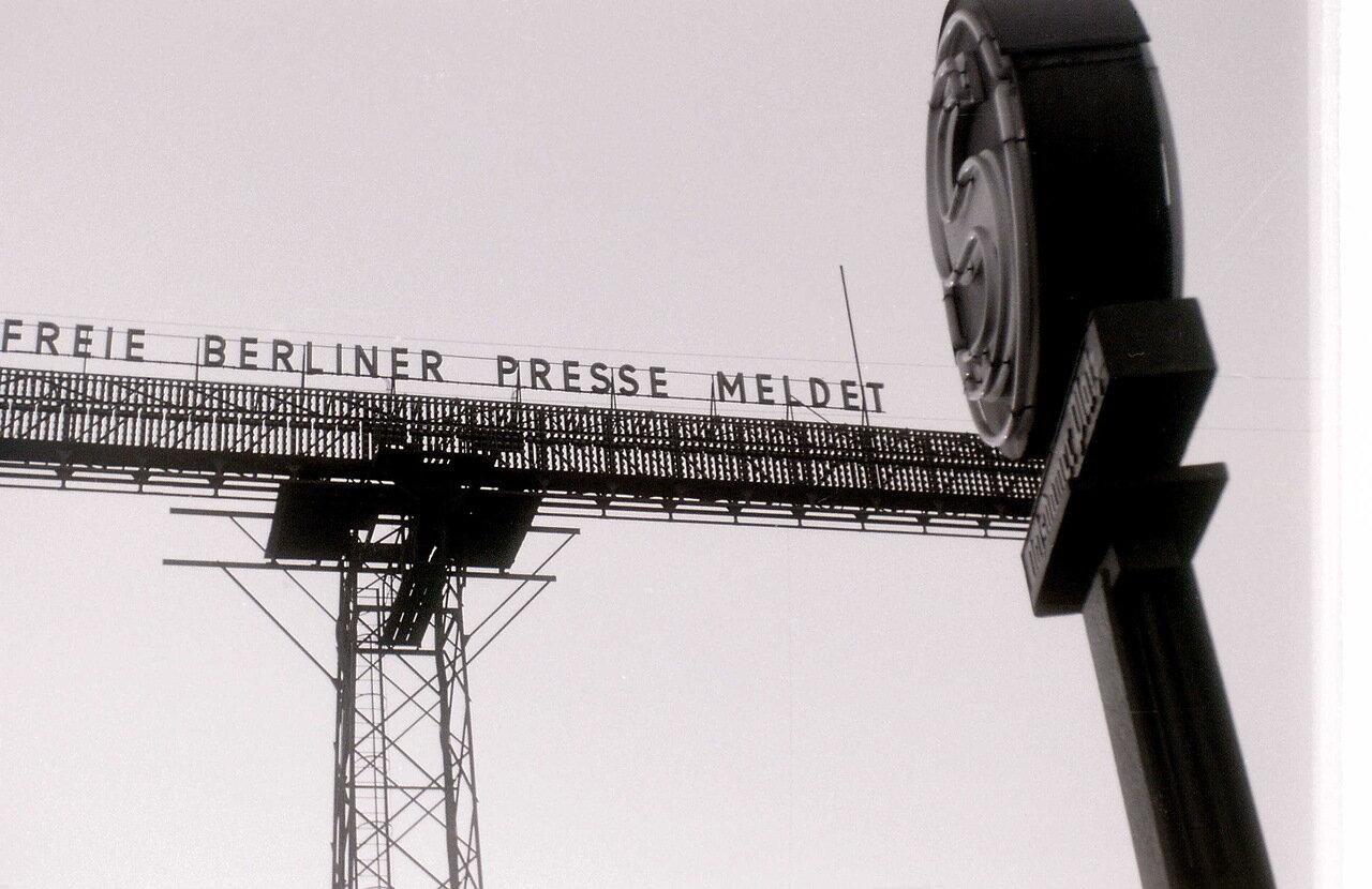 9 сентября 1959. Бегущая новостная строка на Потсдамской площади, Берлин