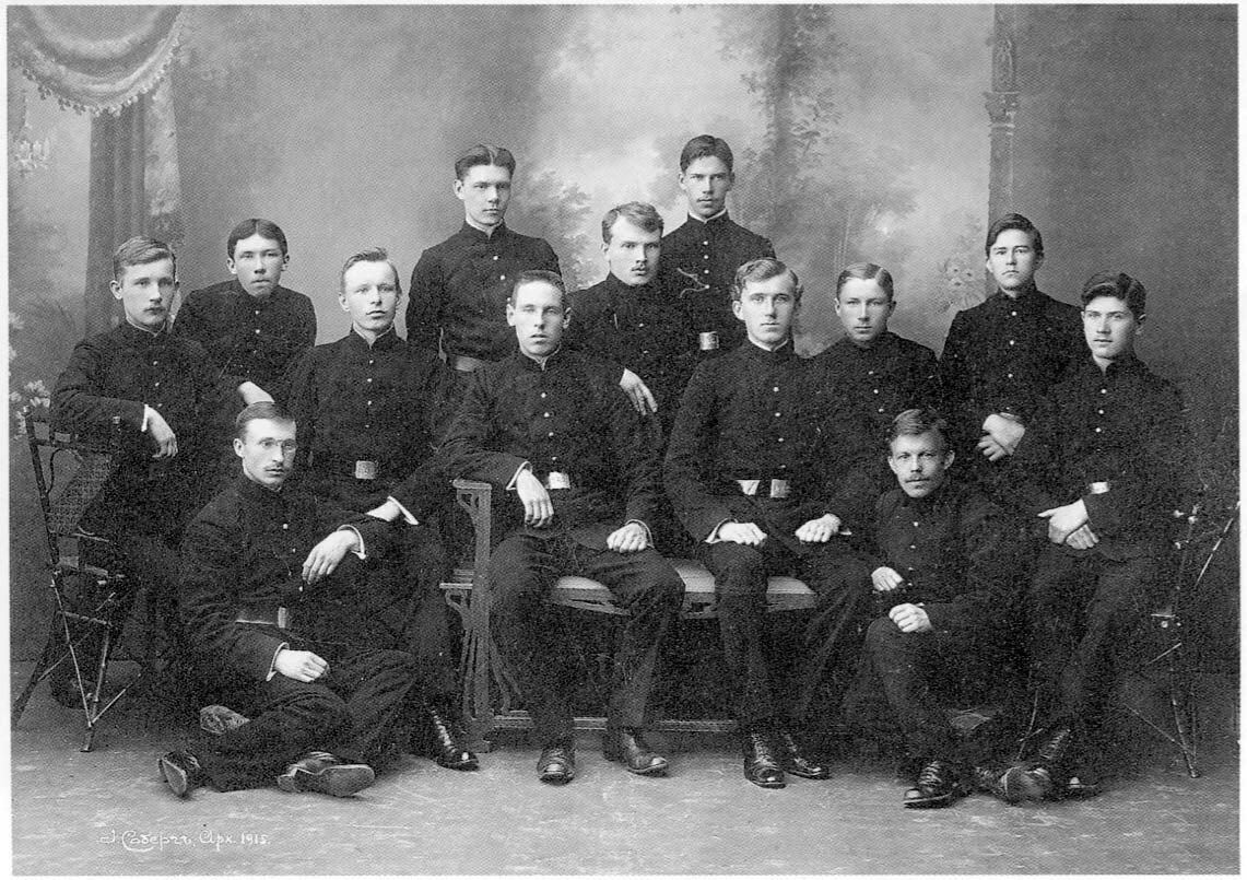 Архангельск. Учащиеся Архангельской Духовной семинарии. 1915