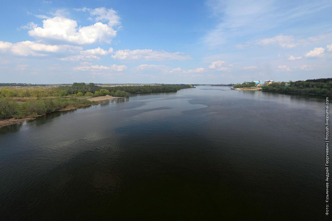 Ока и устье Москвы-реки в Коломне