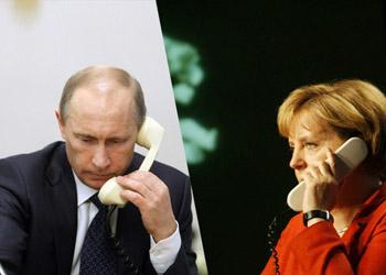 Путин обсудил с Меркель кризис на Украине и референдум в Крыму