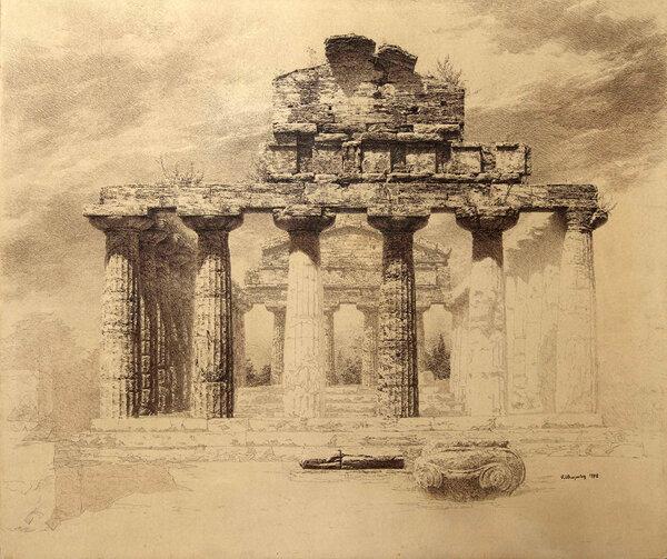 максим атаянц, пестум, храм цецеры 1992.jpg