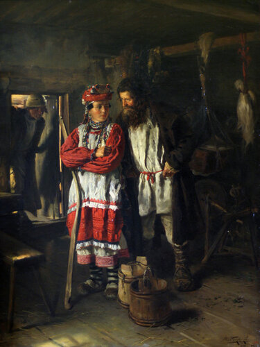 "Картина Владимира Егоровича Маковского ""Свекор"", 1888 г."