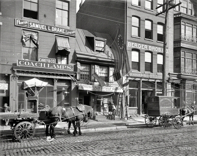 Circa 1900. Betsy Ross House, Philadelphia