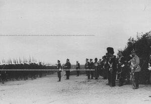 Церимониальный марш лейб-егерей полка в присутствии императора Николая II.