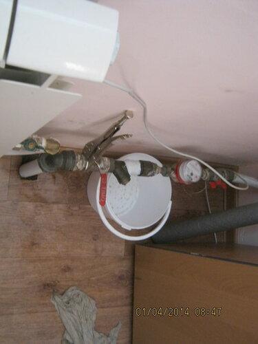 На входе водопровода в магазин лопнул фильтр