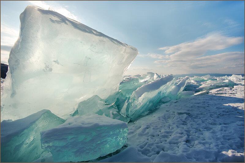Прозрачная льдина