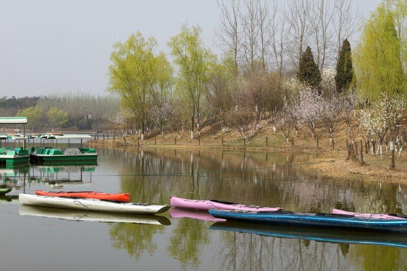 Лодки, Олимпийский парк, Пекин