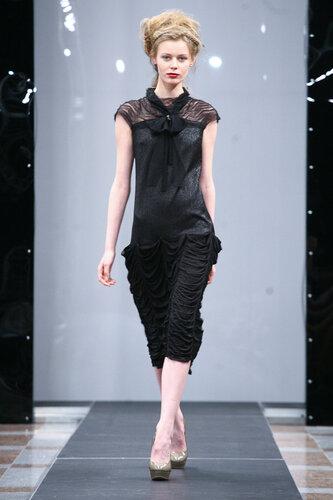 чёрное платье с бантом в ретро стиле дизайнеры одежды-,Диана Павловская,сайт www.fashion-piart.ru,