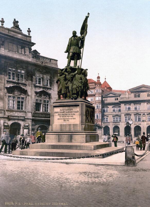 3. Памятник фельдмаршалу Радецкому. ~ 1900 год
