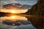 Рассвет над озером Омчино