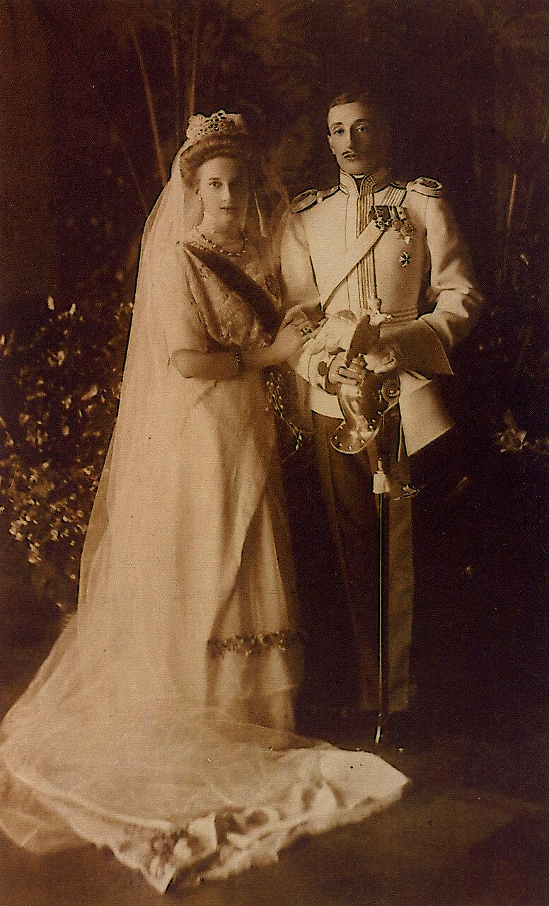 1911. Татьяна Константиновна и князь Константин Багратион - Мухранский