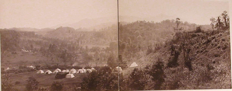 Вид Хуц-Убани и Турецких позиций, взятых русскими войсками 29-го апреля, (панорама)