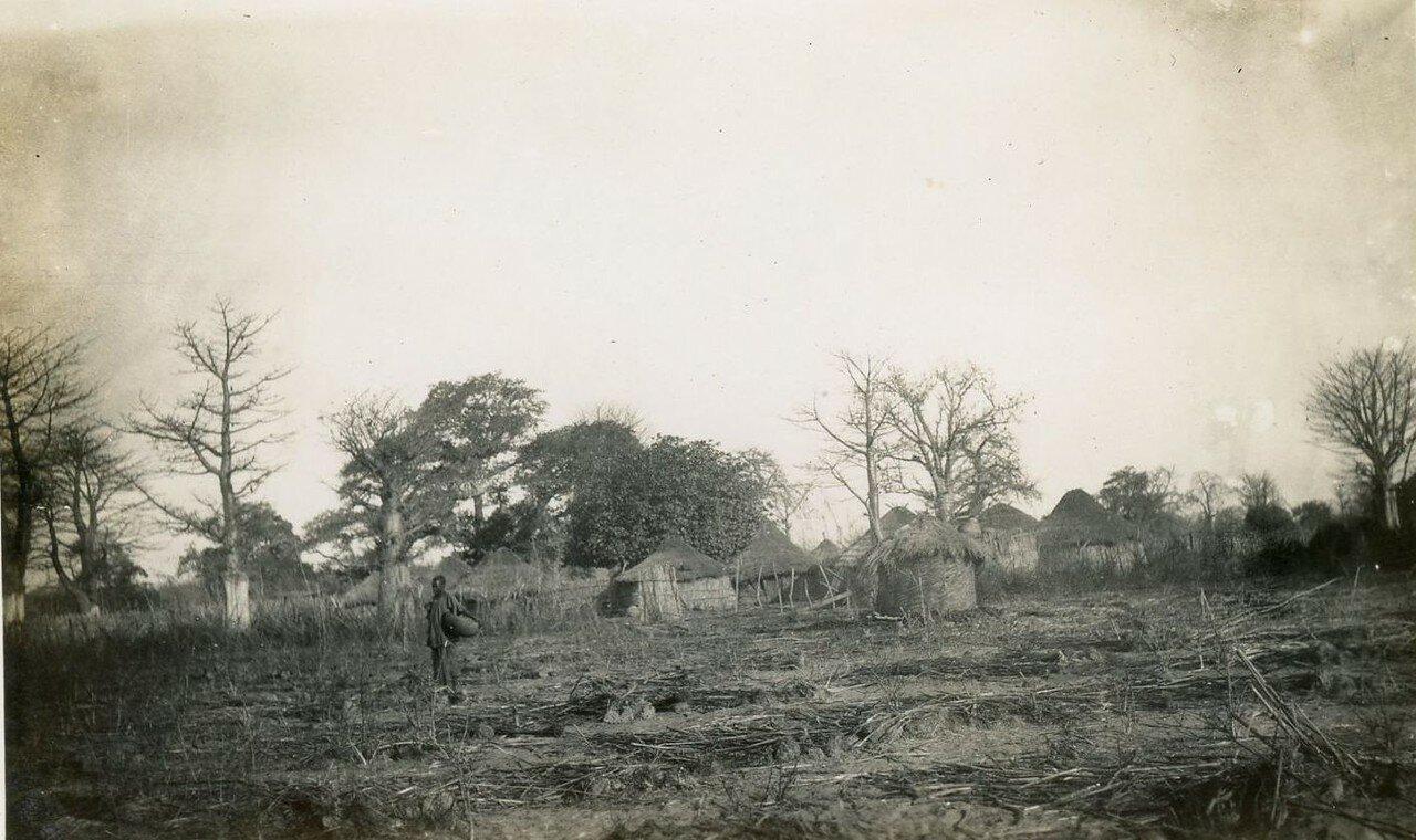 1920. Западная Африка. Деревня. Общий вид