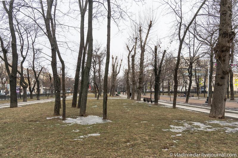 Тверской бульвар - холодная весна