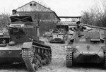 Танки Т-26, Pz.I и Командирская машина KI.Pz.Bf.Wg. 1Kl.A (Sd.Kfz.123) в Испании.