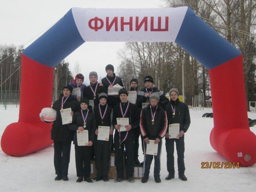 Победители районных соревнований по биатлону 23 февраля 2014г.