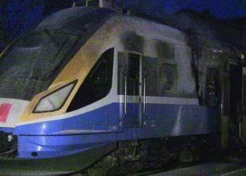 Загорелся поезд Унгены – Кишинев: Эвакуировано около 15 человек