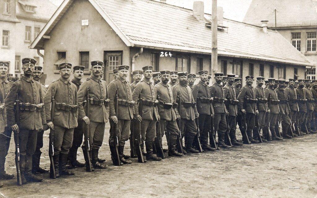 Two ranks of men from Landsturm Infanterie Ersatz Bataillon 'Elsenborn' (VIII 39)