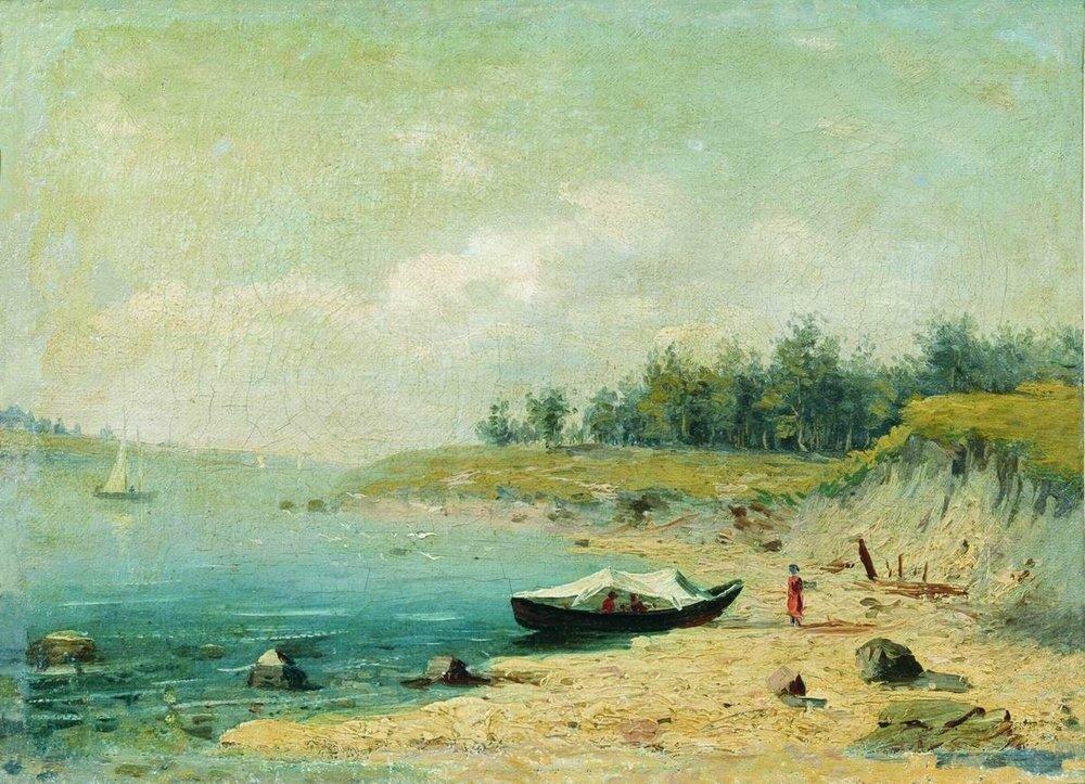 На берегу Волги. 1870.jpg