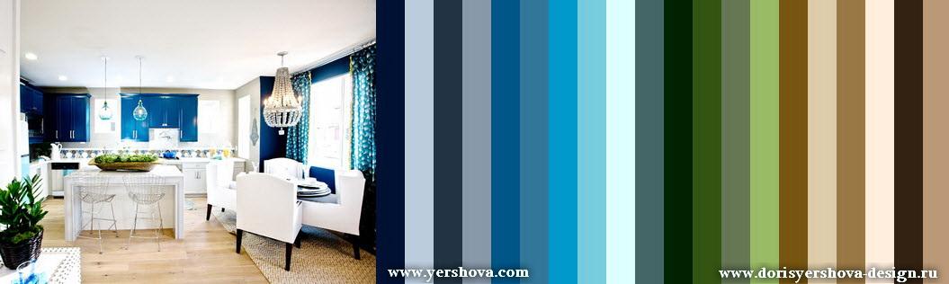 цветовая палитра для дизайна. синие, бирюзовые, бежевые и зеленые тона