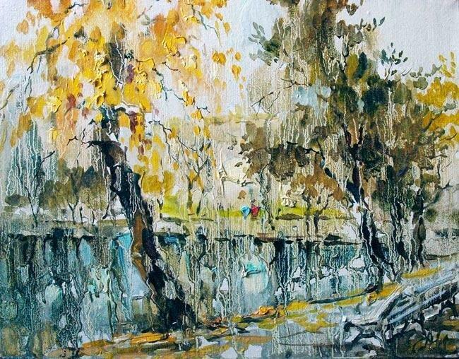 Анна Чарина. Осень на Чистых прудах.jpg