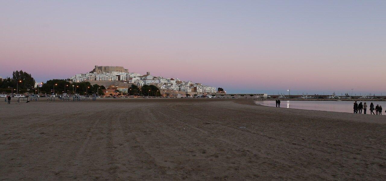 Peniscola, playas. Пеньискола, пляжи, panorama