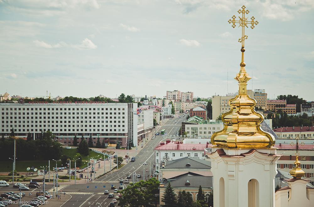 Витебск, площадь Победы, улица Ленина, вид сверху