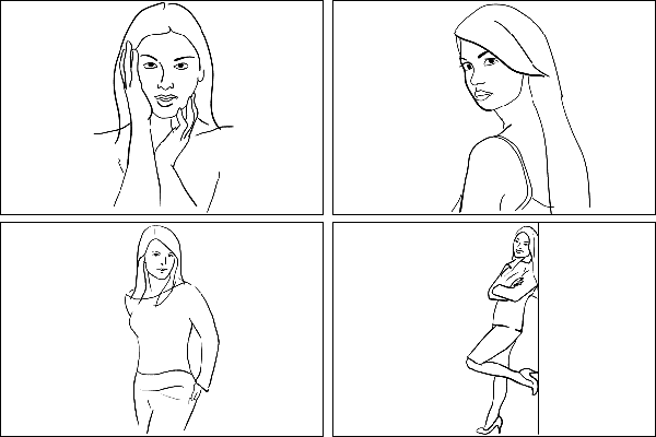 Позы для женского портрета 1
