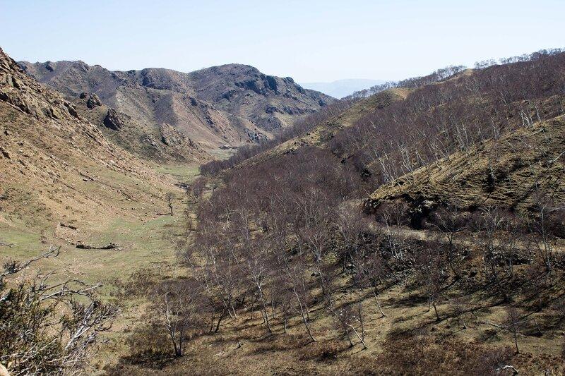 перевал в горах инь шань, внутренняя монголия, китай