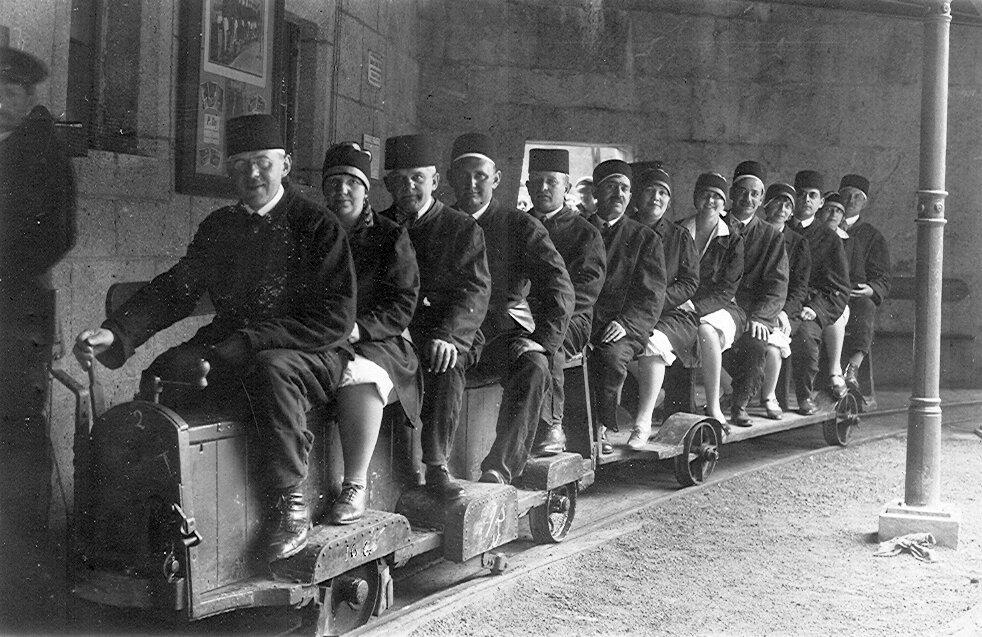 1926. Берхтесгаден, музей в соляной шахте