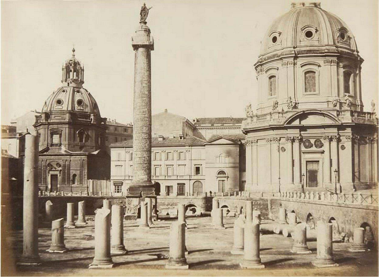 Колонна Траяна на Форуме Траяна. 1860