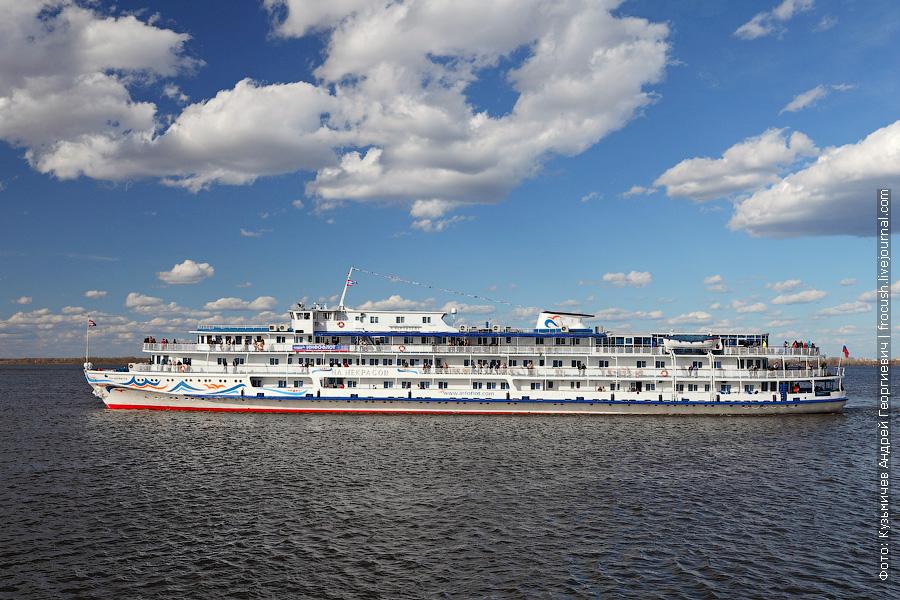 1 мая 2013 года 17:15. Теплоход «Н.А.Некрасов» открывает навигацию 2013 года рейсом из Нижнего Новгорода