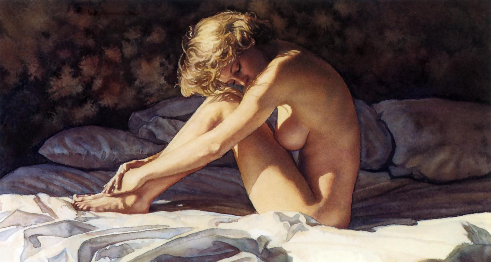 Художник рисует голую девушку 11 фотография