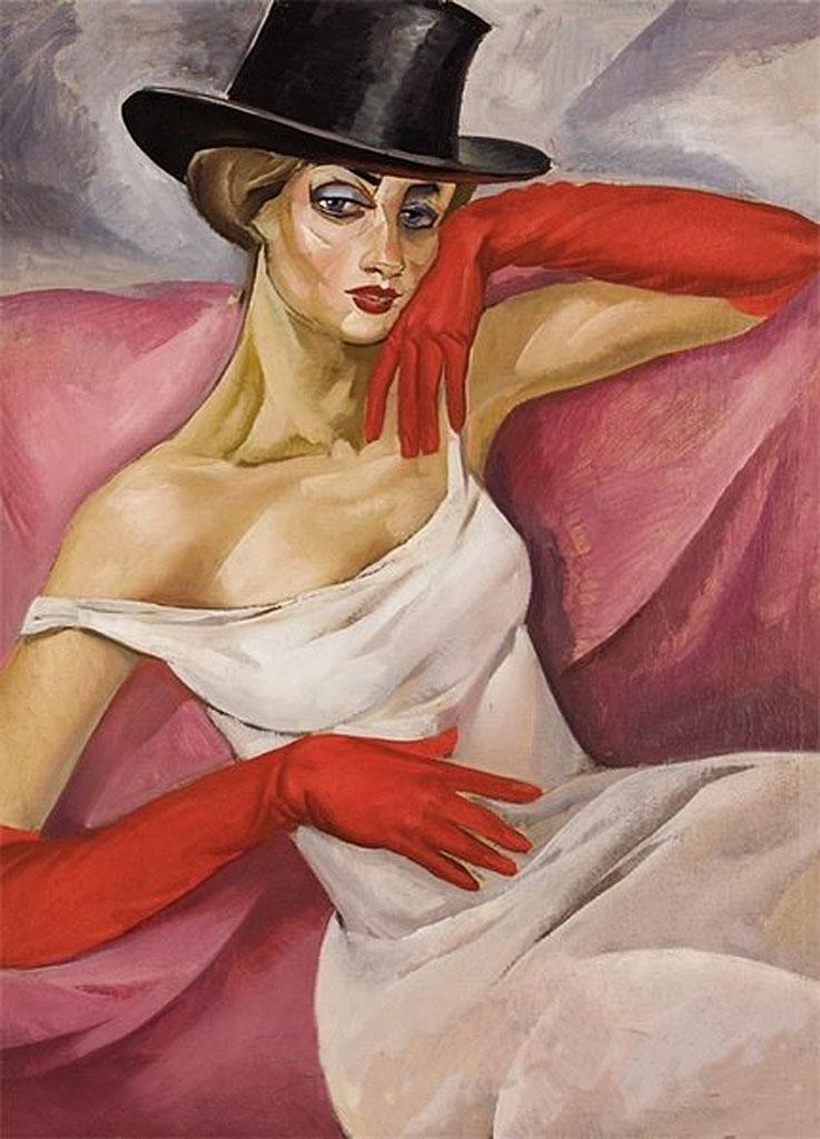 Женский портрет. Григорьев Борис Дмитриевич (1886-1939),