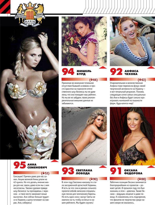 Самые сексуальные женщины России 2013 года по версии журнала Maxim