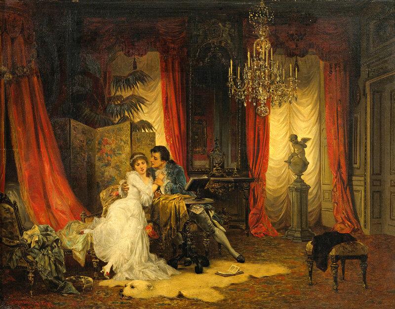 Коллекционное... Carl Schweninger, Jr. (Austrian, 1854 - 1903)