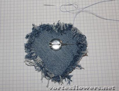 Как сделать брошь из ткани