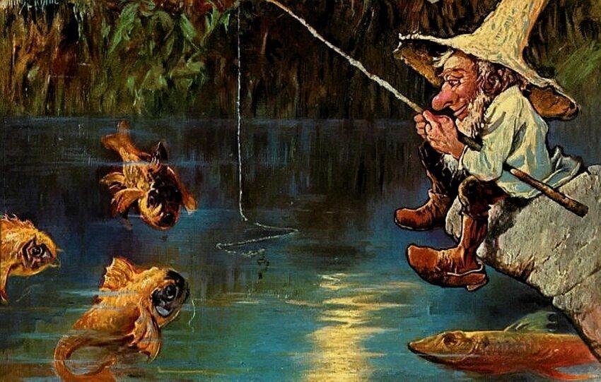 Картины открытки о рыбалке 56
