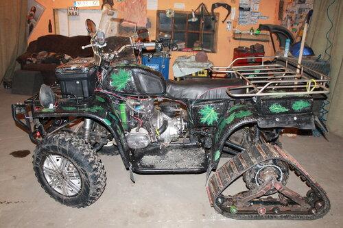 Как сделать квадроцикл из мотоцикла иж 151