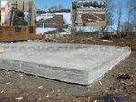 Плита на сваях. Незаглубленный ростверк на винтовых сваях с обратной засыпкой и бетонной стяжкой