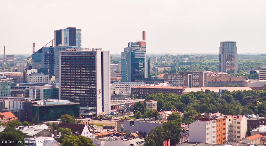 Эстония, Таллин, Вид на центр Таллина
