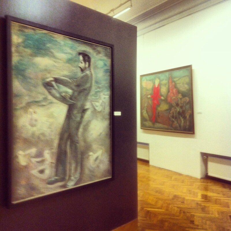 Выставка В. Попкова в Академии художеств