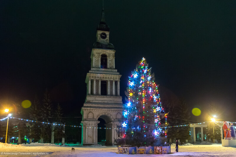 Новогодняя ель в Слободском